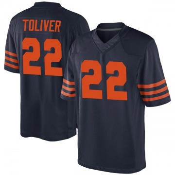 Men's Kevin Toliver Chicago Bears Game Navy Blue Alternate Jersey