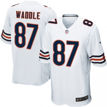 Men's Tom Waddle Chicago Bears Game White Jersey