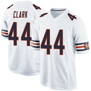 Youth Darion Clark Chicago Bears Game White 100th Season Jersey